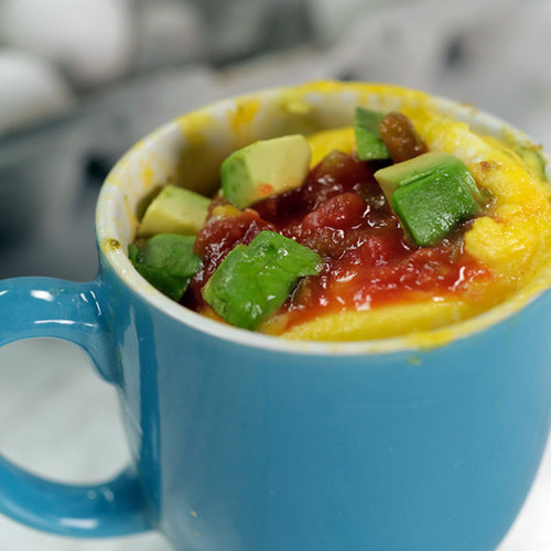 Avocado Omelet in a Mug photo