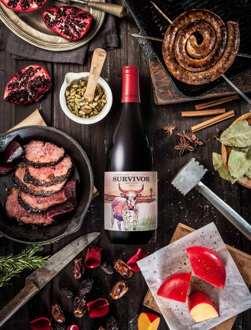 This new wine range by Overhex International is named after a cow photo