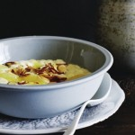 Lemon rice pudding with gin syrup photo