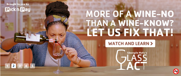 Sibongile Mafu presents Glass Act YouTube series for Pick and Pay photo