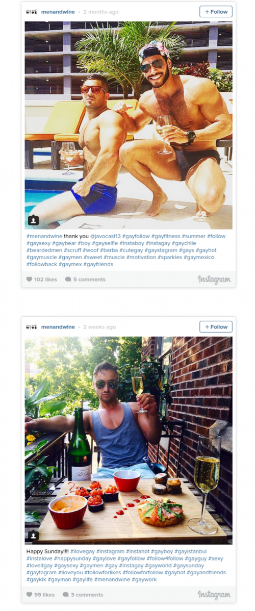 hotmen e1439280408667 Check out this Instagram account featuring hot men drinking wine!