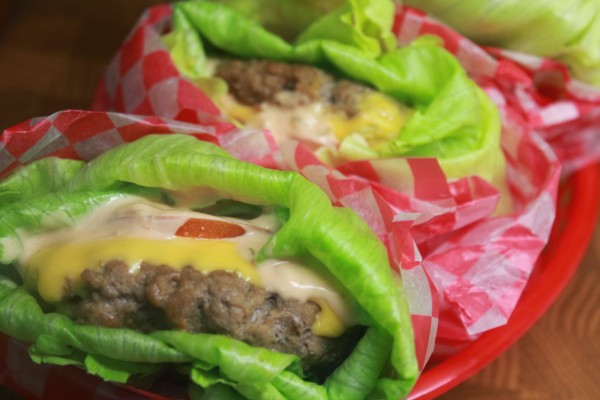 Lettuce wrapped Cheeseburgers photo