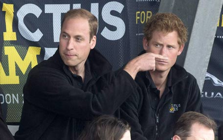 Prince William and Harry banned from eating garlic photo