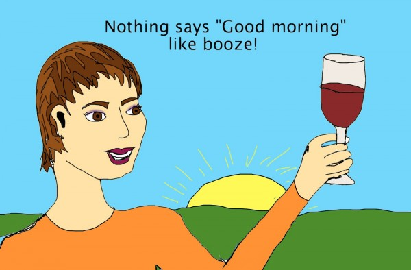 Is booze at breakfast the best way to start the day? photo