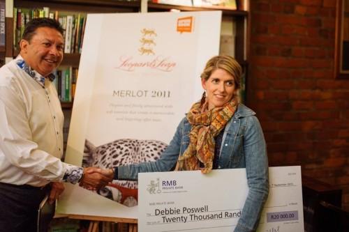 debbie e1441864263345 Leopard`s Leap and Open Book announce winner of wine label design competition