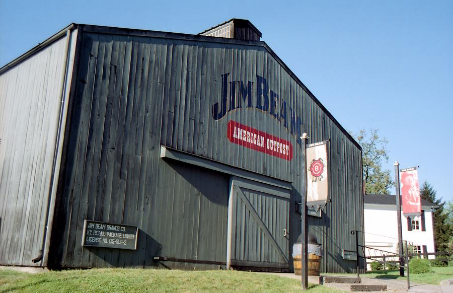 Jim Beam warehouse on fire after hit by lightning photo