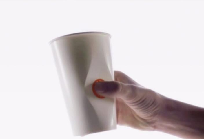 Grip, Pop and Drink with This Revamped Paper Cup photo