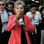 Hillary Clinton is a big fan of wine ice cream photo