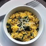 Quinoa and Egg Scramble With Spinach photo