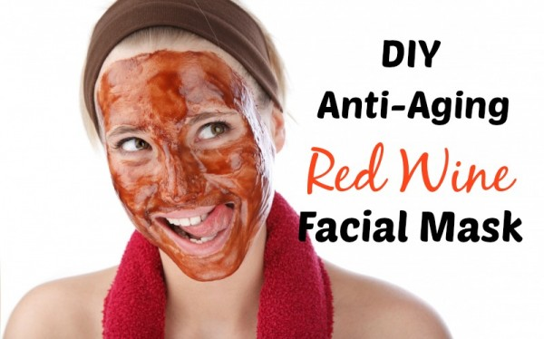 How to make a red wine face mask photo