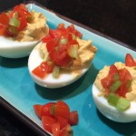 These Bloody Mary deviled eggs are the perfect Vodka-soaked party snack photo