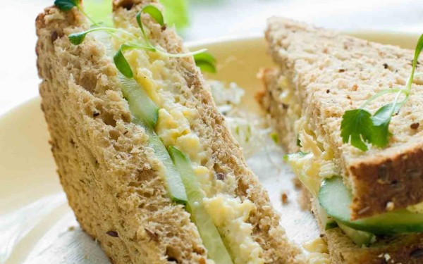 Scrambled Egg and Cucumber Sandwich paired with MCC photo