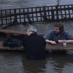 Leeds pub garden floods, men go for pint anyway photo