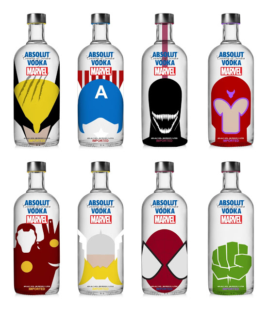 Spot your favourite superheroes on these Absolut Vodka bottles photo