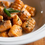 Sweet potato gnocchi with sage butter photo