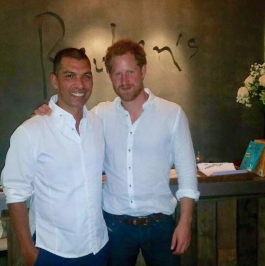 Prince Harry enjoys dinner at Reuben's in Franschhoek photo