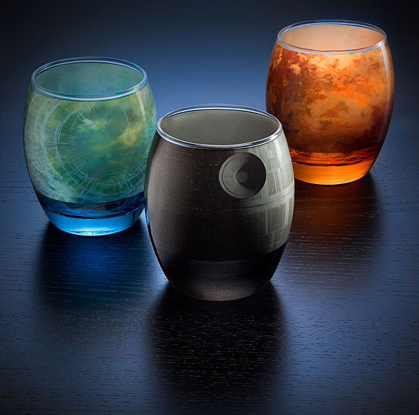 Star Wars Planetary Glassware Set With The Famous Planets photo