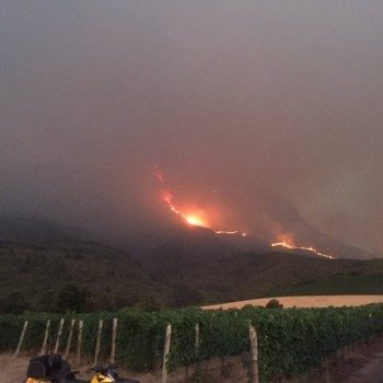 Major Fire Poses Threat To Stellenbosch Vineyards photo