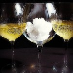Champagne with a cotton candy snowball! photo