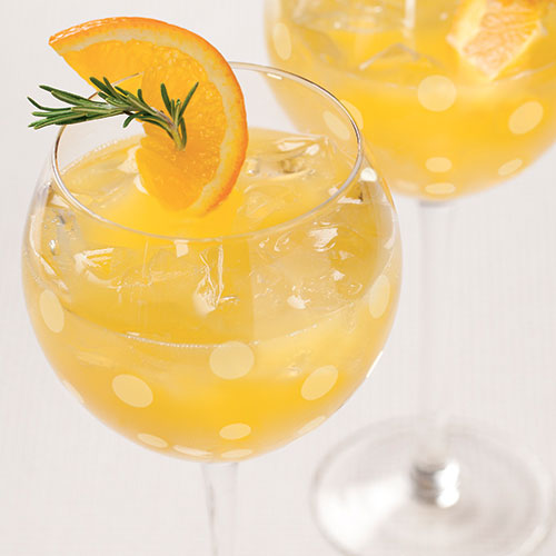 Citrus Champagne Cocktail for a Hot Summer`s Day photo
