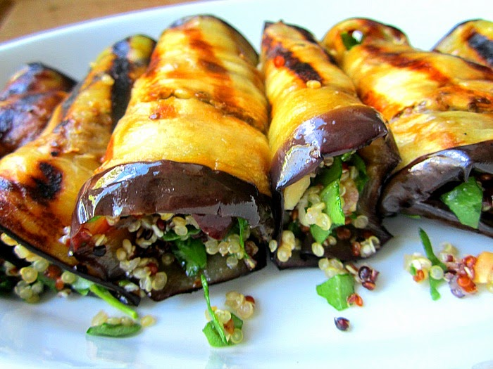 Miso Grilled Eggplant and Quinoa Salad photo