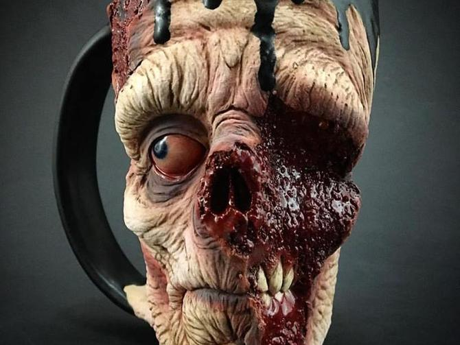 Zombie mug: The most hideously icky way to drink your coffee photo