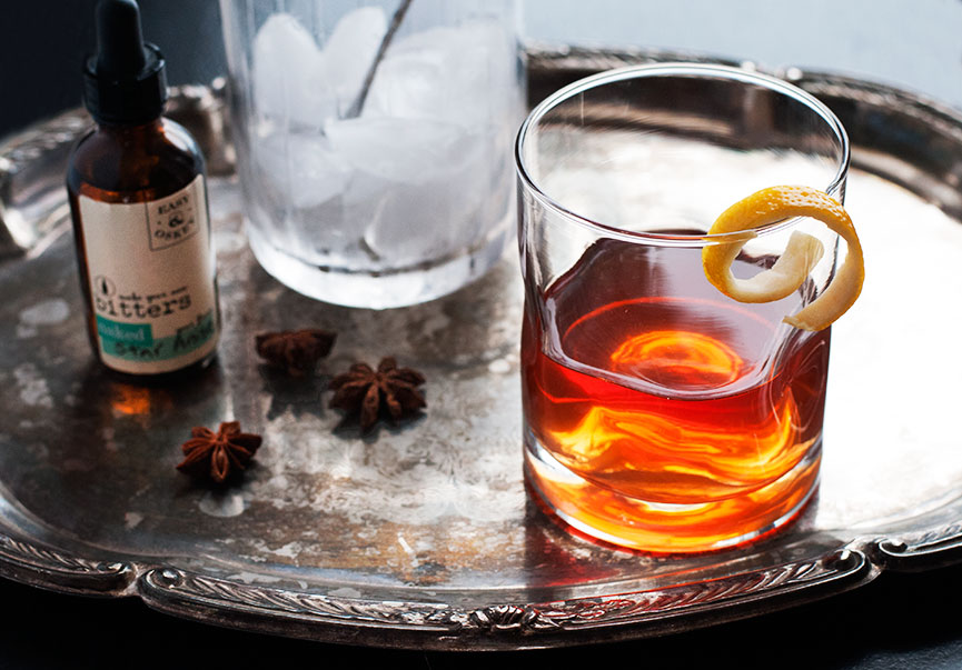 Andrew Zimmern's Sazerac with Star Anise Bitters photo