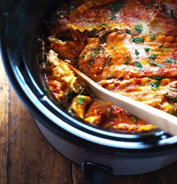 Super Easy and Skinny Veggie Slowcooker Lasagna photo