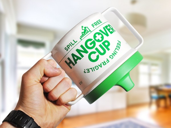 Introducing the spill-proof Hangover Cup photo