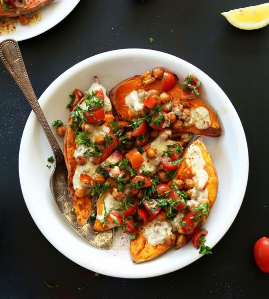 Mediterranean Baked Sweet Potatoes photo