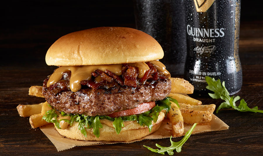 Hard Rock Cafe Created A Burger With Whiskey Bacon Jam And Guinness Beer Cheese For St. Paddy's Day photo