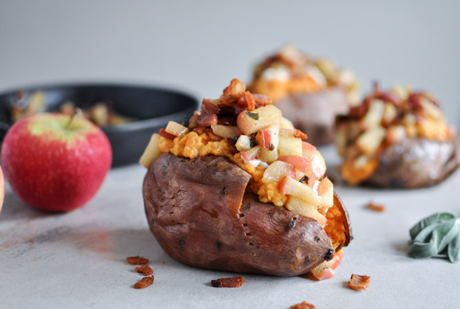 Apple and Bacon Stuffed Sweet Potatoes photo