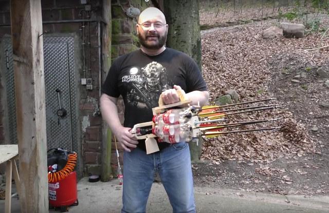 DIY Madman Turns Six Coke Bottles Into a Homemade Gatling Gun photo