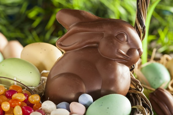Make your Easter basket boozy with these Bourbon Chocolate Bunnies photo