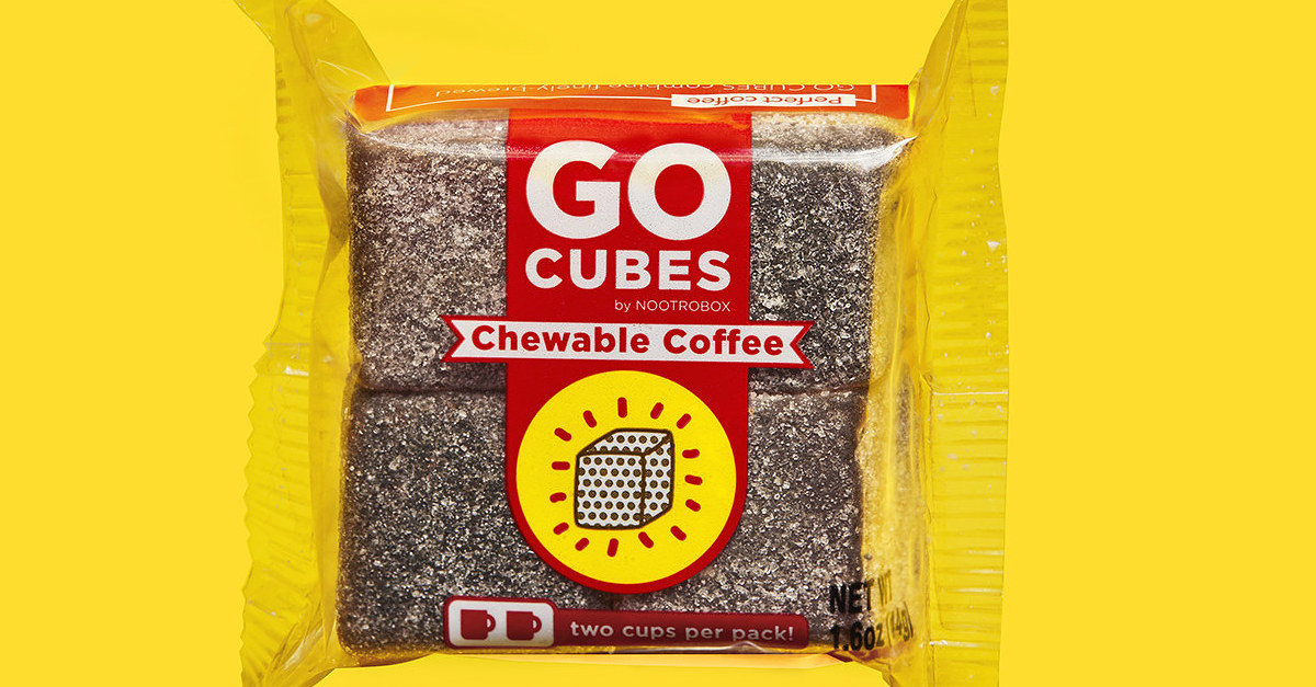 These Chewable Coffee Cubes Help Nerds Feel Like Pro Athletes photo