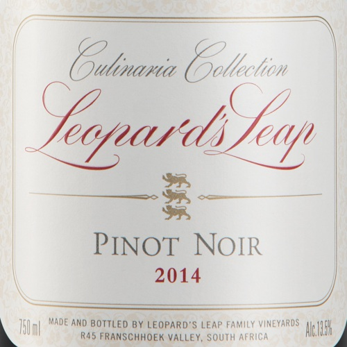 Leopard's Leap adds a Pinot Noir to the Culinaria Collection photo