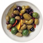 How to make citrus and chilli marinated olives photo