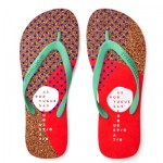 Eco-friendly flip-flops made from cork photo