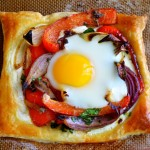 Red Pepper and Baked Egg Galettes photo