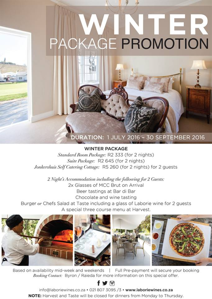 laborie promo Winter Holiday Package Promotion at Laborie