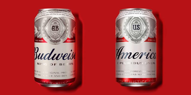 Budweiser is renaming its beer `America` photo