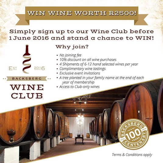 Join the Backsberg Wine Club for Special Offers and Personal Wine Choices photo