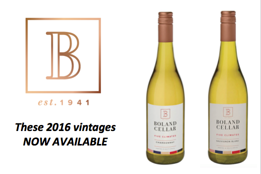 Boland Cellars releases 2016 vintage of its Five Climates range photo