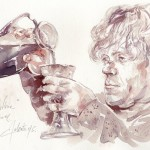 This Serbian Artist Paints with Wine photo