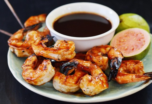 Grilled Shrimp with a fruity Rum glaze photo