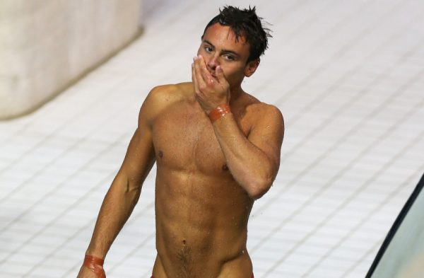 Hunky Olympic Diver Suggests Fruit Water Over Fruit Juice photo