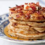 Bacon Pancakes dripping with Maple Syrup photo