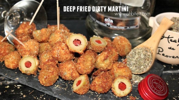 How to make a Deep Fried Dirty Martini photo