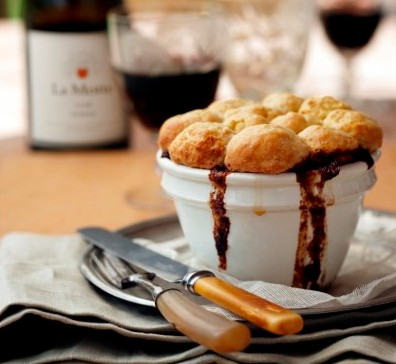Game Pie Recipe paired with La Motte Syrah photo