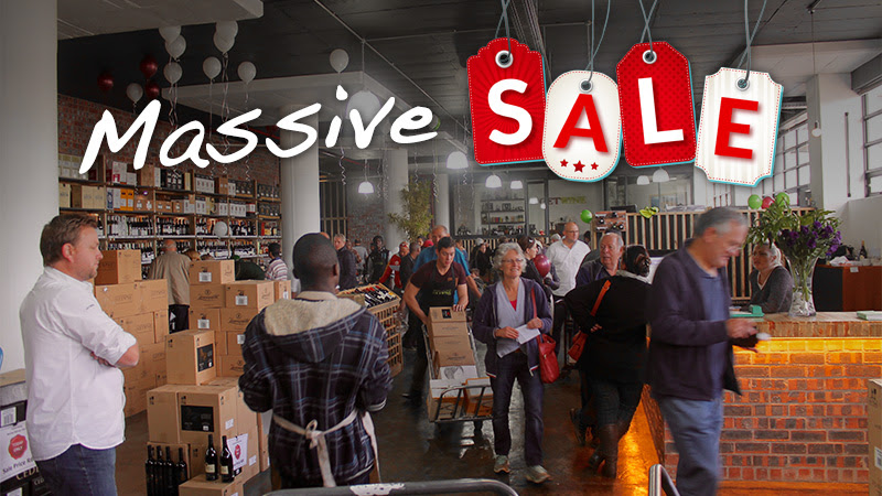 You are invited to GETWINE's warehouse wine sale photo